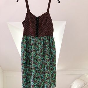 Comfy Turquoise Paisley Dress